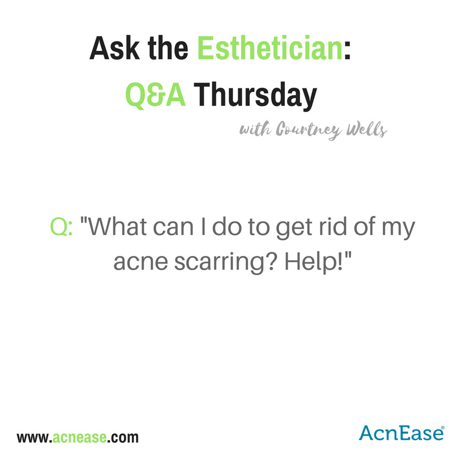 Q: What are the best ways to deal with acne scarring?