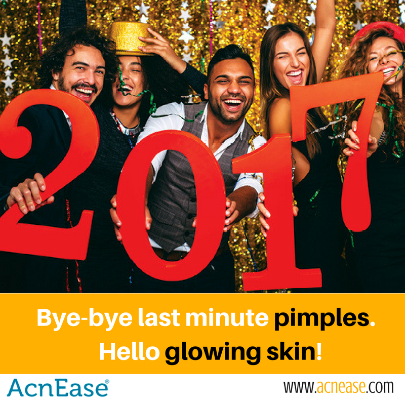Q:  I want to be pimple free before my holiday parties and even new years eve…how!?