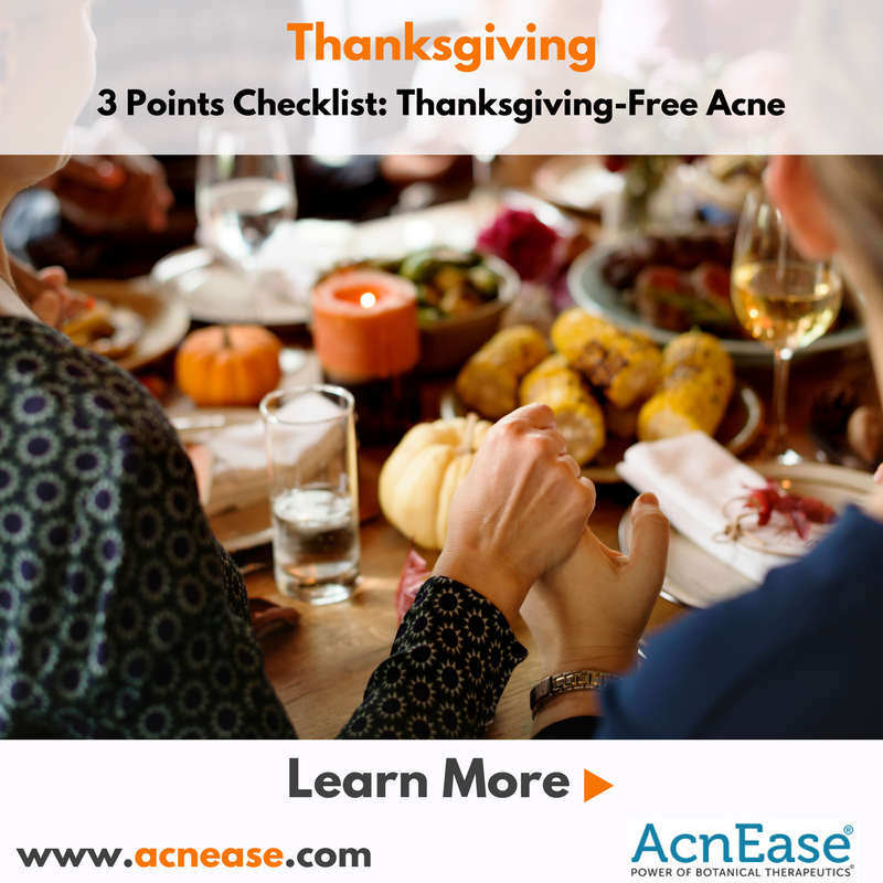 3-Point Checklist: Thanksgiving-Free Acne